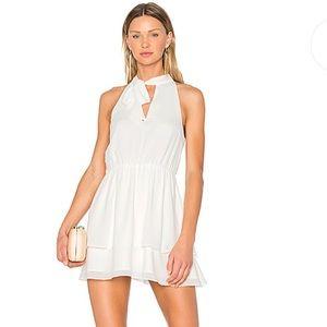 White revolve dress